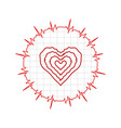 heart cardiogram pulse bpm vector image