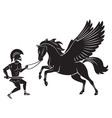 Hercules and Pegasus vector image vector image