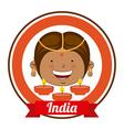 india kid vector image vector image