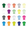 large set of t-shirts vector image vector image