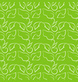 leaf line drawing on bright green background vector image vector image