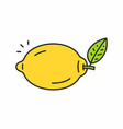 Lemon icon vector image