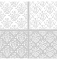 Light grey and white seamless floral pattern vector image vector image