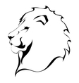 Lion head on a white background Tattoo vector image
