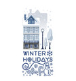logo design for the winter holidays vector image
