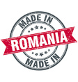 made in Romania red round vintage stamp vector image vector image