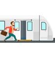 Man missing train vector image vector image