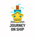 minimalistic posters of journey by boat ship vector image vector image