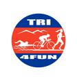 NX triathlon run swim bike CIRC vector image vector image