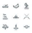old honor logo set simple style vector image vector image