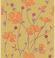 orange cosmos flowers vector image vector image