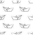 Origami paper ship