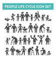people life cycle icons vector image vector image