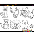 people with pets coloring page vector image vector image