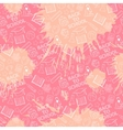 Pink school pattern vector image vector image