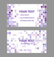 Purple square design business card template vector image vector image