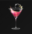realistic cocktail cosmopolitan glass vector image