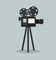 retro cinema film camera vector image vector image