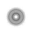 round mandala beautiful geometric lady ornament vector image