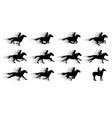 running horses silhouette movie clip art vector image