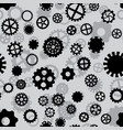 seamless pattern with black and gray gears vector image
