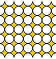 seamless white circles black border vector image vector image