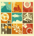 set of icons on a theme of sicily vector image vector image