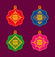 set of tags in ethnic geometric style vector image vector image