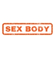 Sex Body Rubber Stamp vector image vector image
