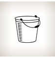 Silhouette bucket on a light background vector image vector image
