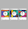 social media post and feed design template vector image vector image