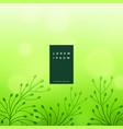 subtle green floral leaves background vector image vector image