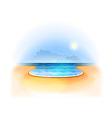 summer sea vector image vector image