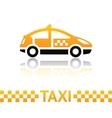 taxi cab symbol vector image vector image