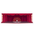 theater stage red drapery curtains actor show vector image