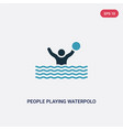 two color people playing waterpolo icon from vector image vector image