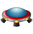 ufo spaceship icon on a white background vector image vector image