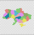 ukraine with regions on isolated background flat vector image