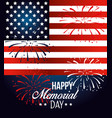 usa flag with fireworks to memorial day vector image vector image
