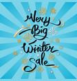 very big winter sale inscription on snowflakes vector image vector image