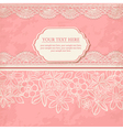 Vintage background with lace vector image