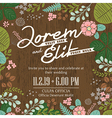 wedding invitation card with foliage background vector image vector image