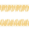 wheat doodles background vector image vector image
