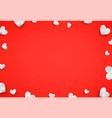 white hearts on red background social media vector image vector image