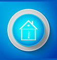 white house temperature icon isolated vector image vector image