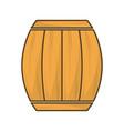 wood barrel of wine beverage tasty vector image vector image