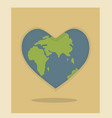 world environment day and earth day planet in the vector image