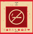 no smoking smoking ban icon cigarette - vector image