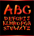 paper crafting alphabets vector image