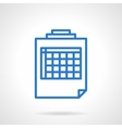 Blank spreadsheet icon simple line style vector image